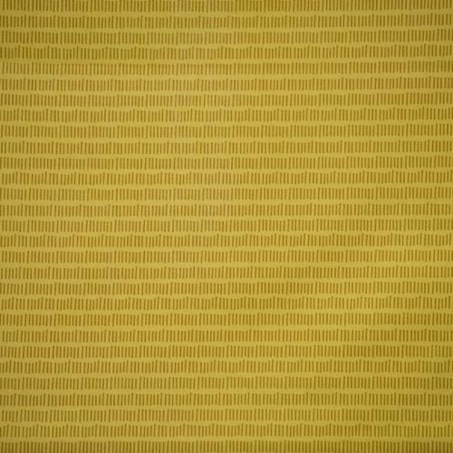 Coton jaune à motif petit trait vintage