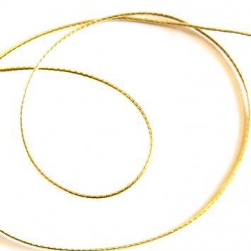 Cordon métallique elastique 1,5mm doré