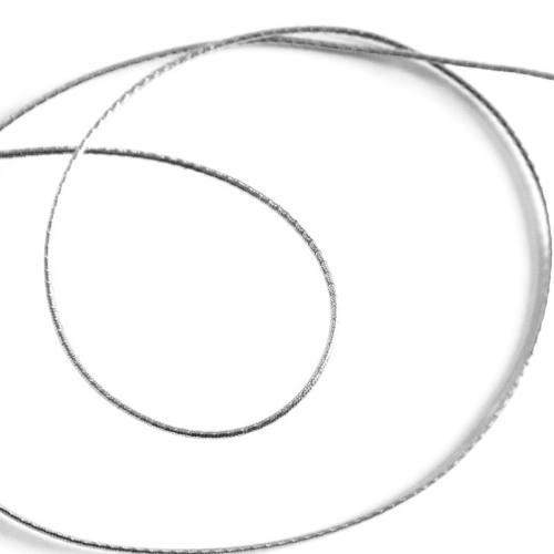 Cordon métallique elastique 1,5mm argent