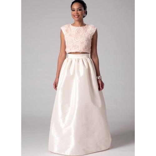 Patron Mc Call's M7355 : Hauts et jupes de mariée taille : 34-42