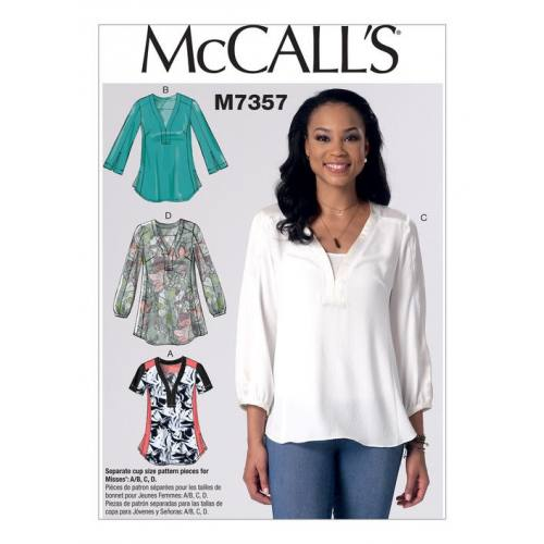 Patron Mc Call's M7357 : Hauts Taille : 42-50