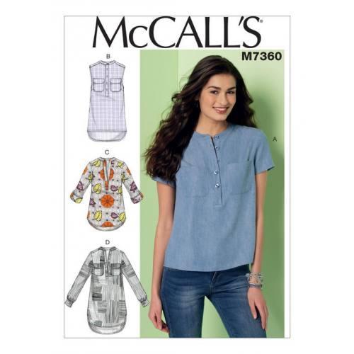 Patron Mc Call's M7360 : Hauts Taille : 42-50