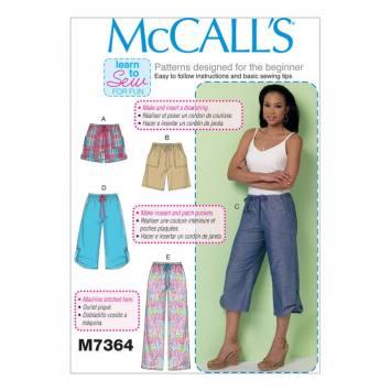 Patron Mc Call's M7364: Pantalon:taille 44-52