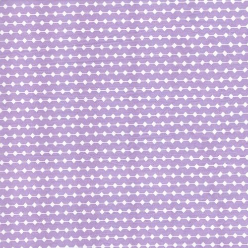 Rouleau 50m Coton percale parme motif frise grande largeur