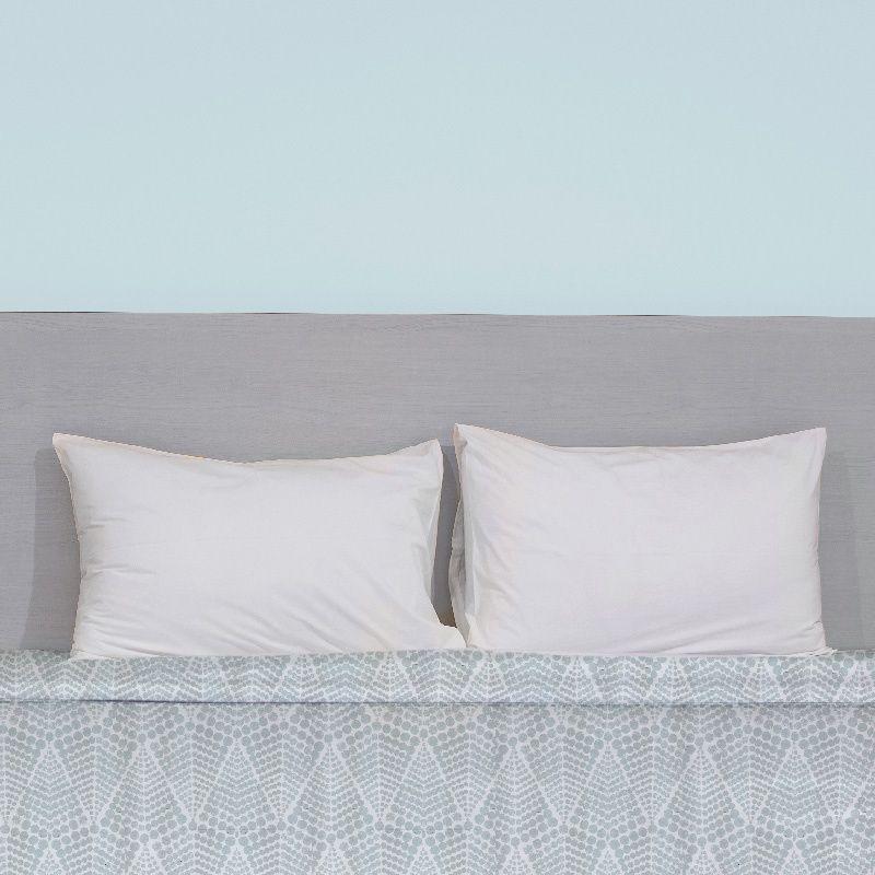 Rouleau 50m Coton percale blanc motif gros pois grande largeur