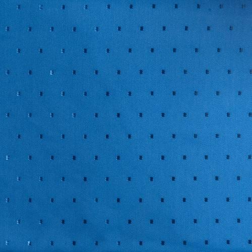 Tissu jacquard polycoton bleu