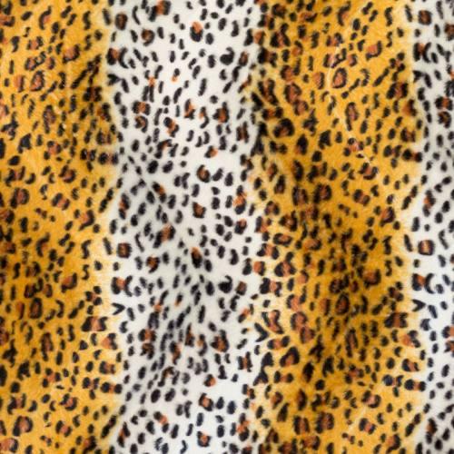 Fausse fourrure guépard jaune et blanche