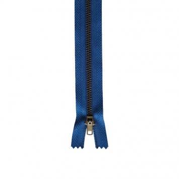 Fermeture pantalon 18 cm métal non séparable bleu Col 145