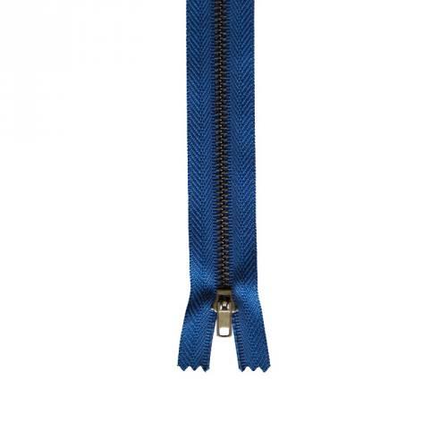 Fermeture pantalon 12 cm métal non séparable bleu Col 145