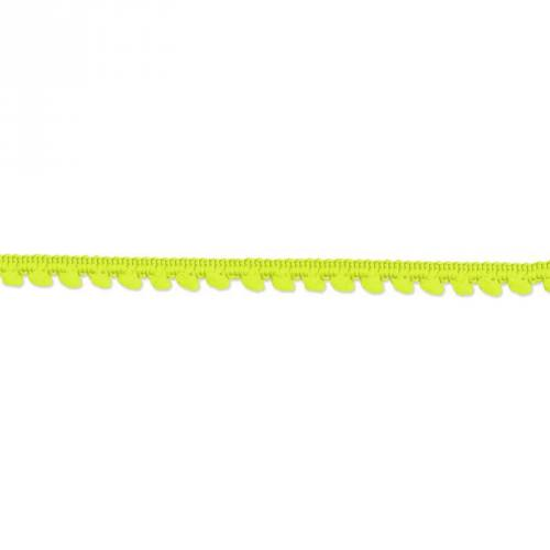 Galon mini pompon 5 mm jaune fluo