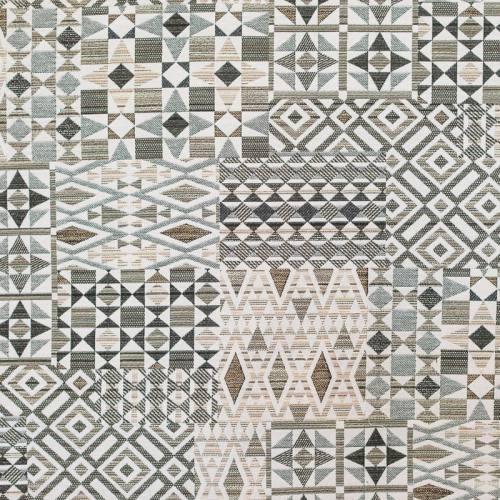 Jacquard taupe et gris motif géométrique
