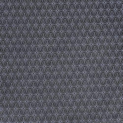 Jacquard gris à petit motif asanoha blanc