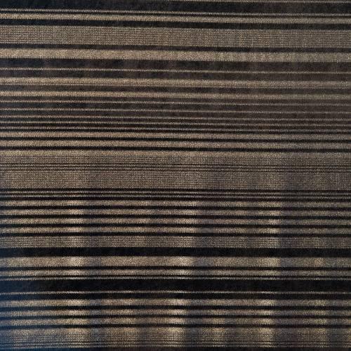 Velours noir à rayures argentées