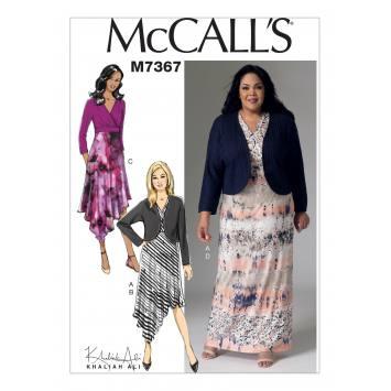 Patron Mc Call's M7367 : Boléro et robe 44-52