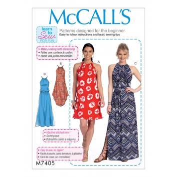 Patron Mc Call's M7405 : Haut et robe 32-42