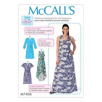 Patron Mc Call's M7406 : Robes et ceinture 42-50
