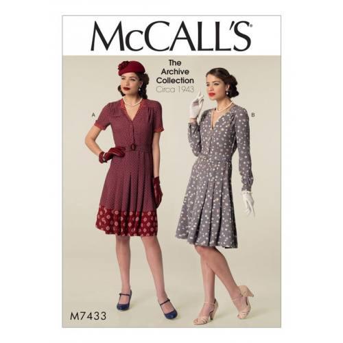 Patron Mc Call's M7433 : Robe et ceinture pour jeune femme 34-42
