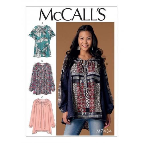 Patron Mc Call's M7434 : Hauts pour jeune femme 44-52
