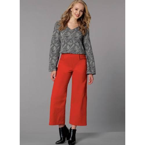 Patron Mc Call's M7445 : Haut et pantalon pour jeune femme 34-42