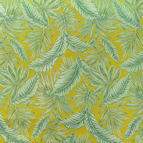 Jacquard vert motif végétation