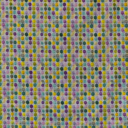 Popeline coton à gros pois mutlicolore