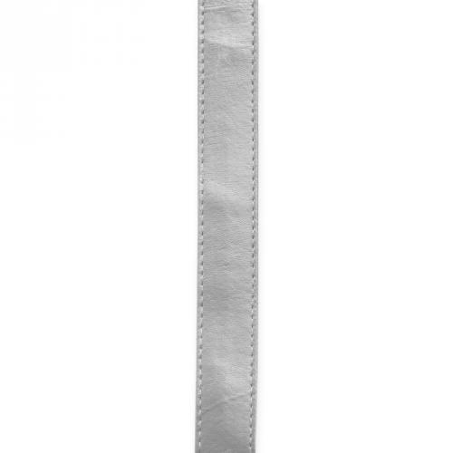 Sangle simili cuir argenté 25 mm