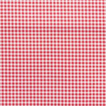 Tissu enduit vichy rouge 6mm