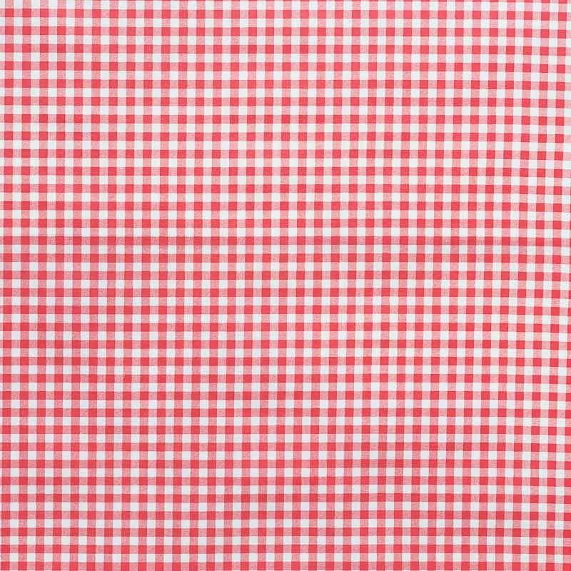 tissu enduit vichy rouge 15mm pas cher tissus price. Black Bedroom Furniture Sets. Home Design Ideas