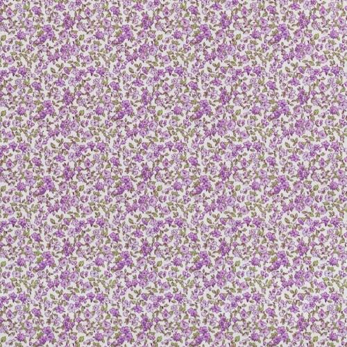 Coton écru liberty violet