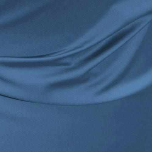 Satin microfibre royal bleu