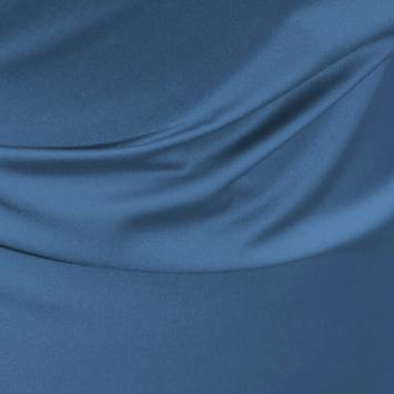 Satin microfibre royal bleu