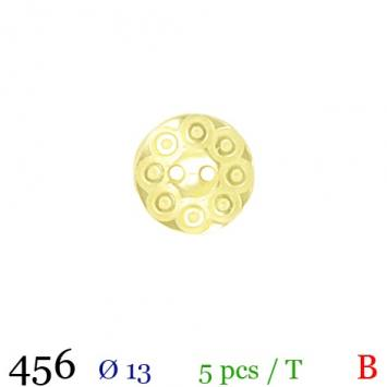 Bouton jaune rond 2 trous 13mm