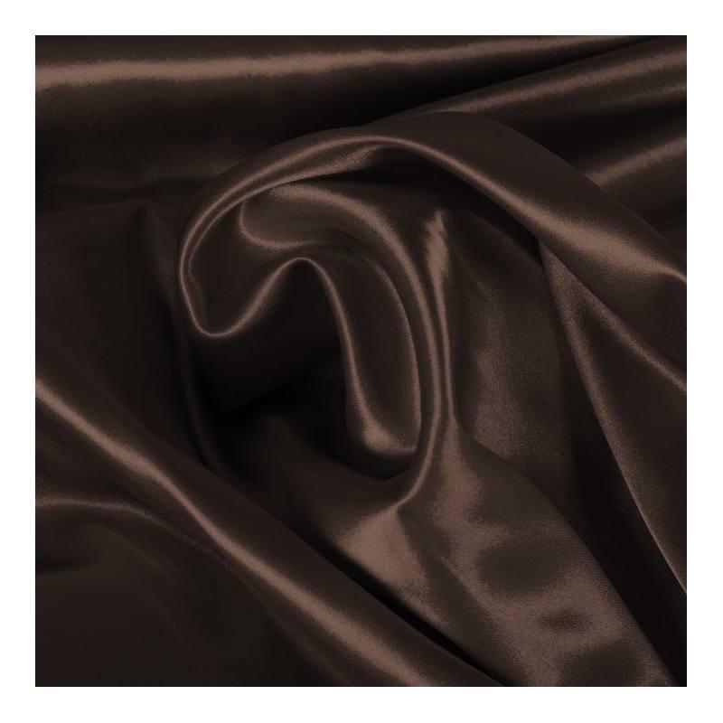 Satin strech chocolat