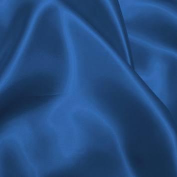 Satin uni bleu saphir 150 cm