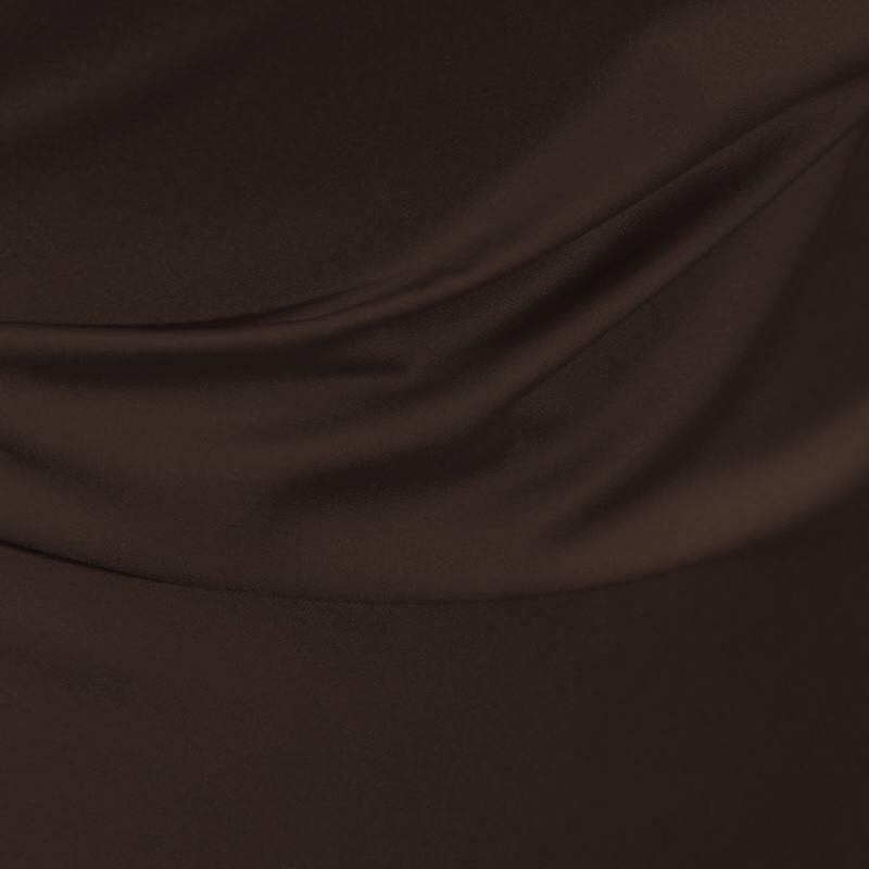 satin microfibre royal marron pas cher tissus price. Black Bedroom Furniture Sets. Home Design Ideas