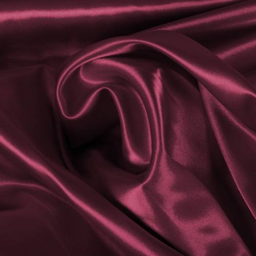 Satin extensible bordeaux