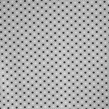 Coton impression numérique gris perle motif géométrique