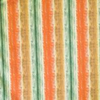 Coton impression numérique effet peinture rouge orangé, vert d'eau et marron