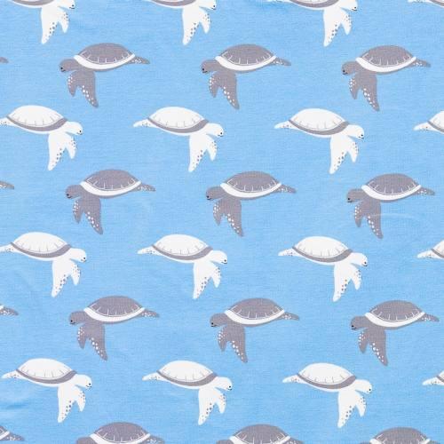 Jersey bleu ciel imprimé tortue