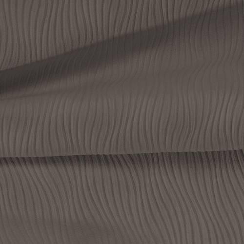 Tissu plissé taupe