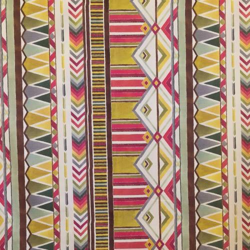 Coton impression numérique africain multicolore