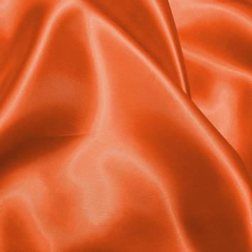 Satin uni orange foncé 150 cm