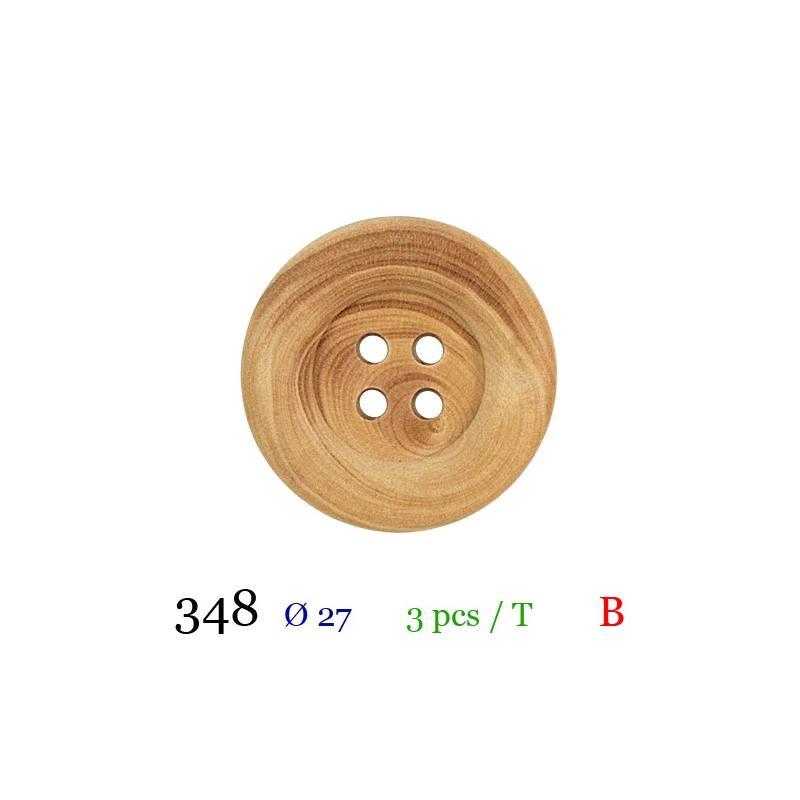 4 boutons neuf mercerie couture bois couleur arc-en-ciel  bois 2.3 cm t39ref16
