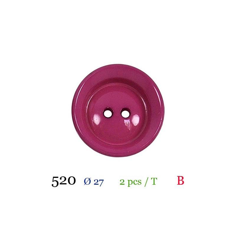 Boutons 6 deux trous boutons 27 mm Petrol