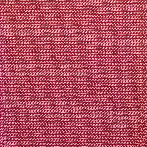 Coton rouge motif vague