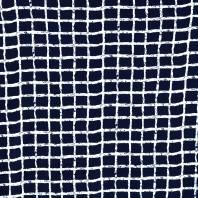 Maille microfibre imprimée bleue marine à motif carreaux