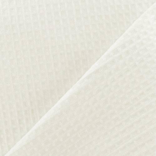 Tissu nid d'abeille écru