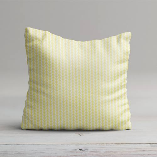 Coton jaune imprimé frise petit triangle