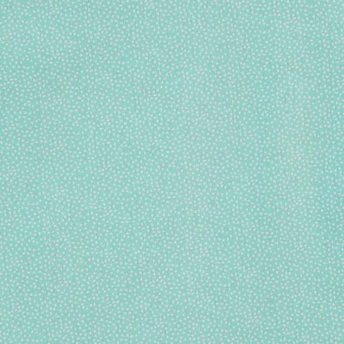 Coton vert d'eau imprimé petit pois