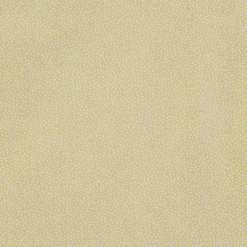 Coton jaune imprimé petit pois